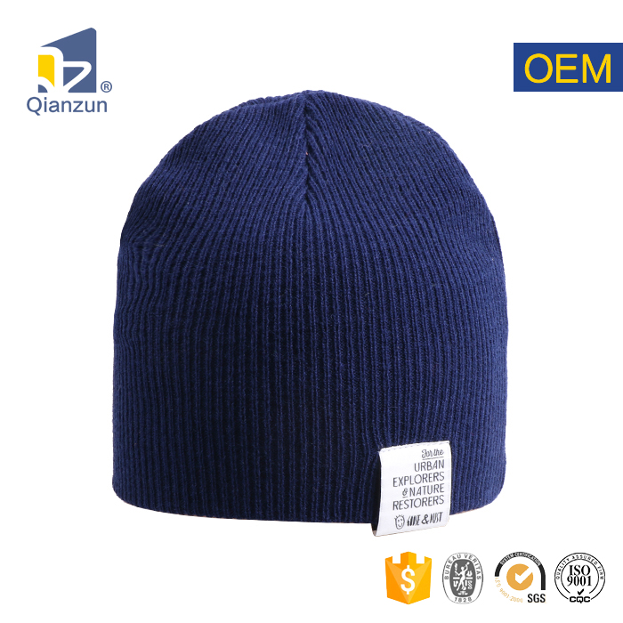 Custom Made Cheap Bulk Knitted Beanies With Woven Label Label Patch Custom  Beanie Knitted Knit Hat 8246f12bd02