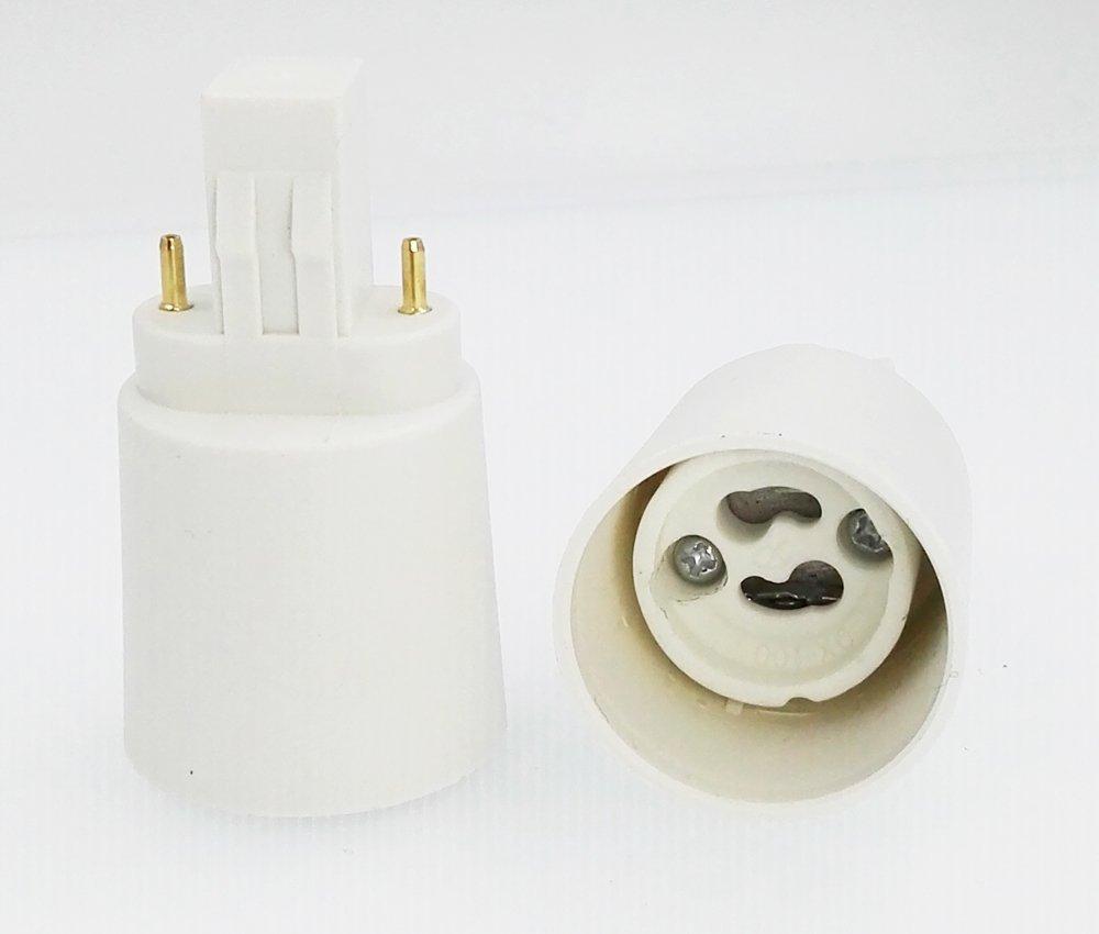 15-pack E-simpo® Gx23 to Gu10 Lamp Base Converter, G23-Gu10 Adapter, Need bypass the ballast, Install Gu10 LED Spotlight in G23 or Gx23 socket. Rohs (Gx23-Gu10)