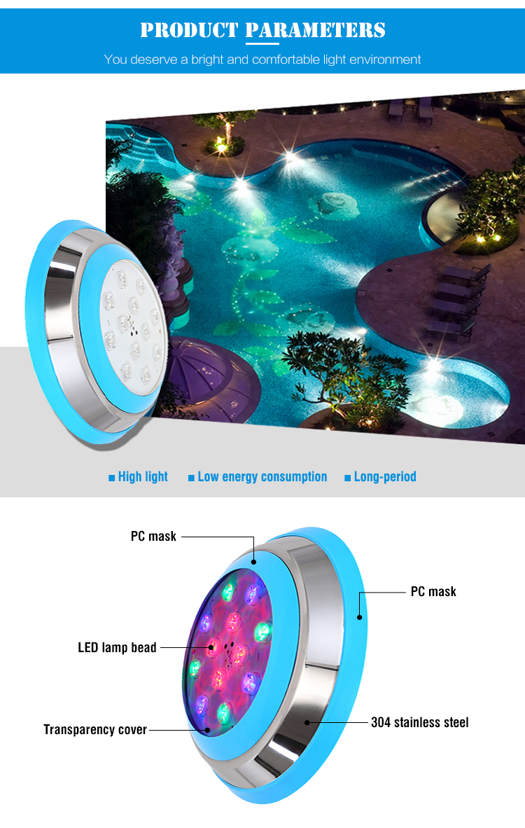 Underwater Ip68 Led Color Changing Swimming Pool Light
