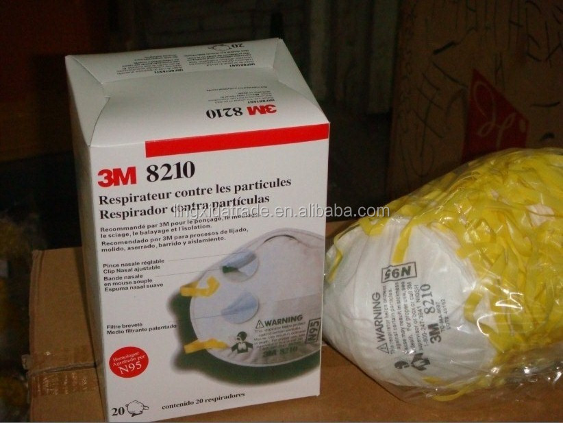 3m particulate respirator N95 Respiratory Protection 8210V , dust mask with valve
