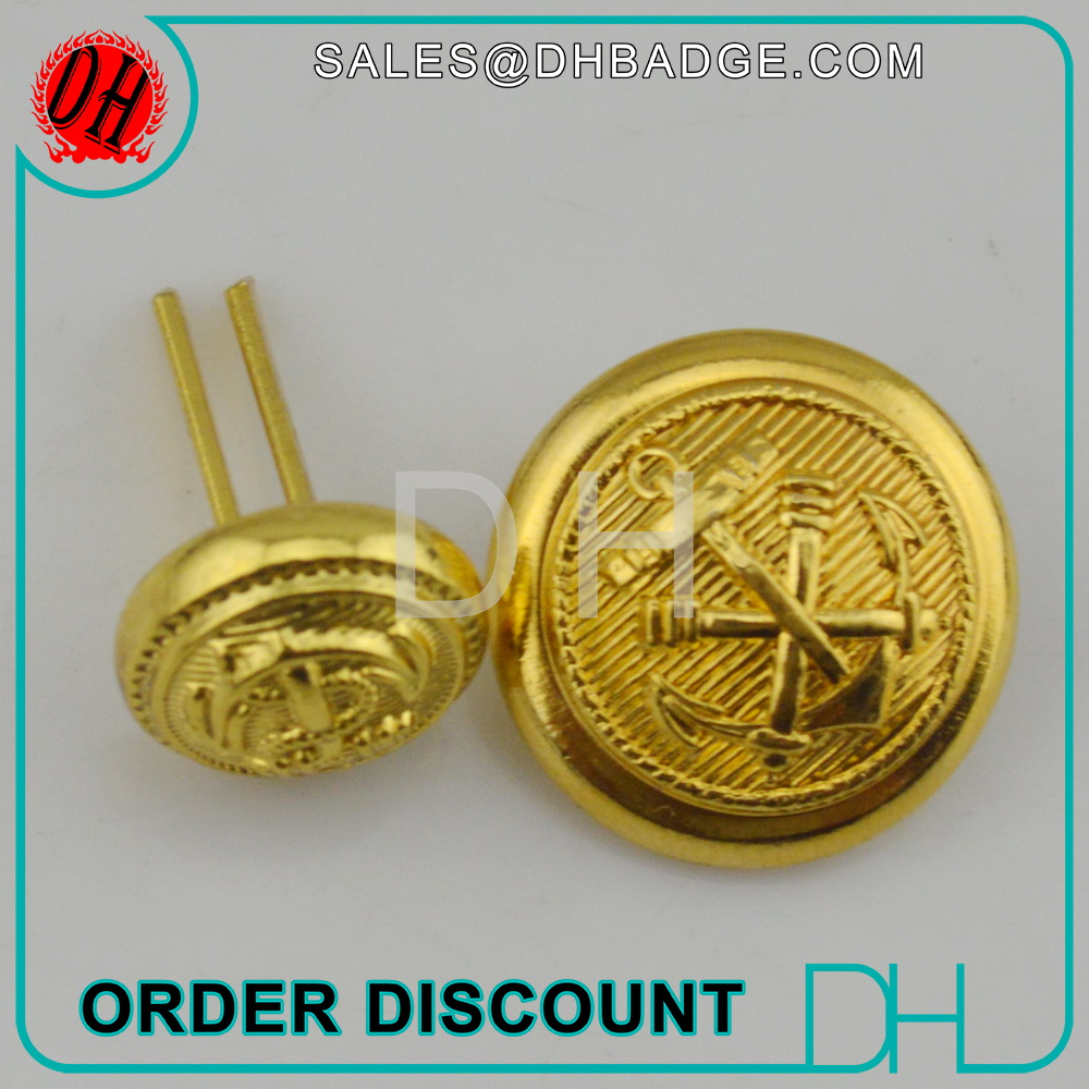 China factory gold plated 20 mm kurta metal hand sewing covers button for shirt