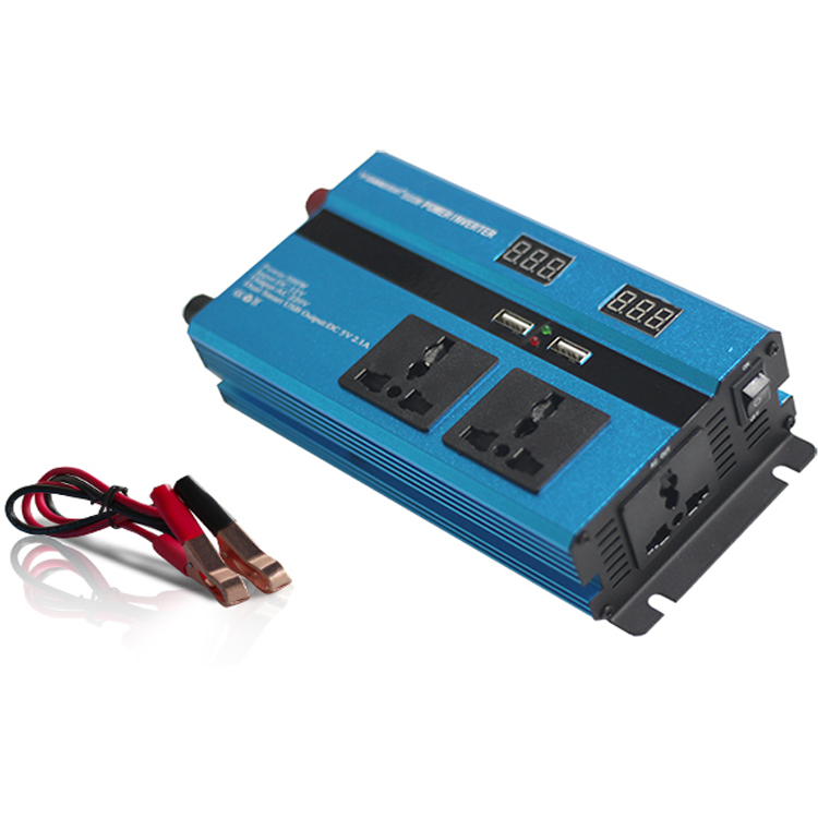 Duplo display LED de 300 w 1000 w mini car power inverter