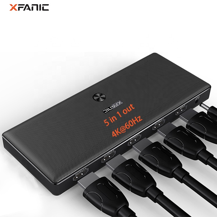 5 In 1 Out 2.0 Switcher Hdmi 6 Way 4K @ 60Hz Hdmi Splitter 6 พอร์ต Hdmi Splitter