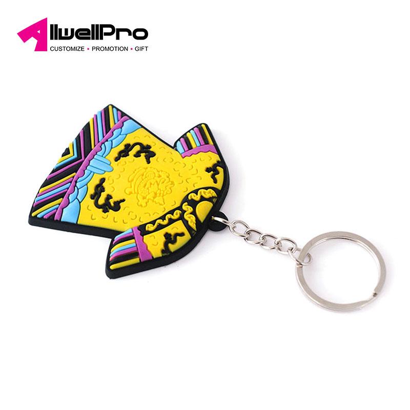 Wholesale custom high quality key ring Chinese element cartoon Qing Dynasty  robes keychain 057426645f65