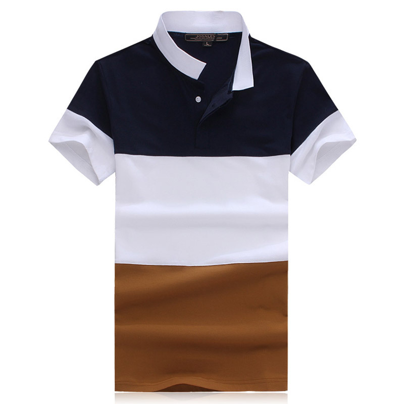 23d502b7d5b4 Buy Mens Polo Shirt Brands 2015 Summer New Men  39 s Short Sleeve Polo  shirt Fashion Designer Lapel spell color Men  39 s Polo shirts in Cheap  Price on ...