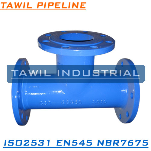 TAWIL shx china ISO2531 EN545 ductile iron flange pipe fitting