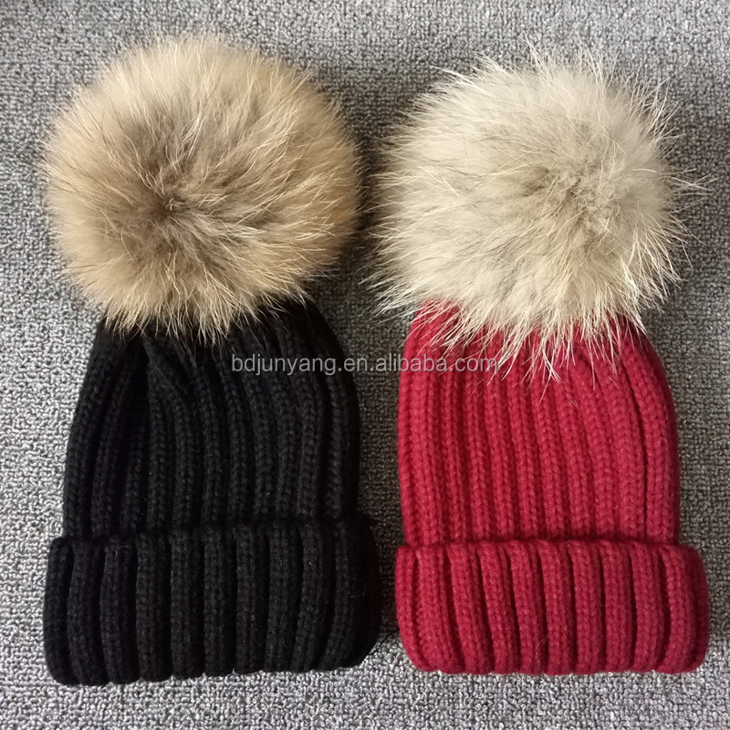 7e0a466be4dba Chinese supplier beanie hat with pompom winter cap toque wholesale pom pom  hat