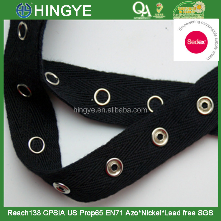Snap Tape Prong Snap Tape Twill tape with prong snap for garment