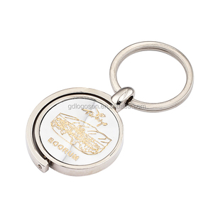 2D Metal Spinning Key Chain with Metal Ring Turkey Souvenir Gifts Key Chain Holder