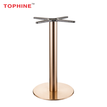 Commercial Contract Tophine Metal Furniture Parts Copper Table Legs Rose Gold Base