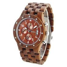 BEWELL 2020 полностью сандаловое дерево наручные часы дизайнерские мужские часы Топ люксовый бренд Кварцевый Хронограф Календарь Relogio Masculino 109D(Китай)