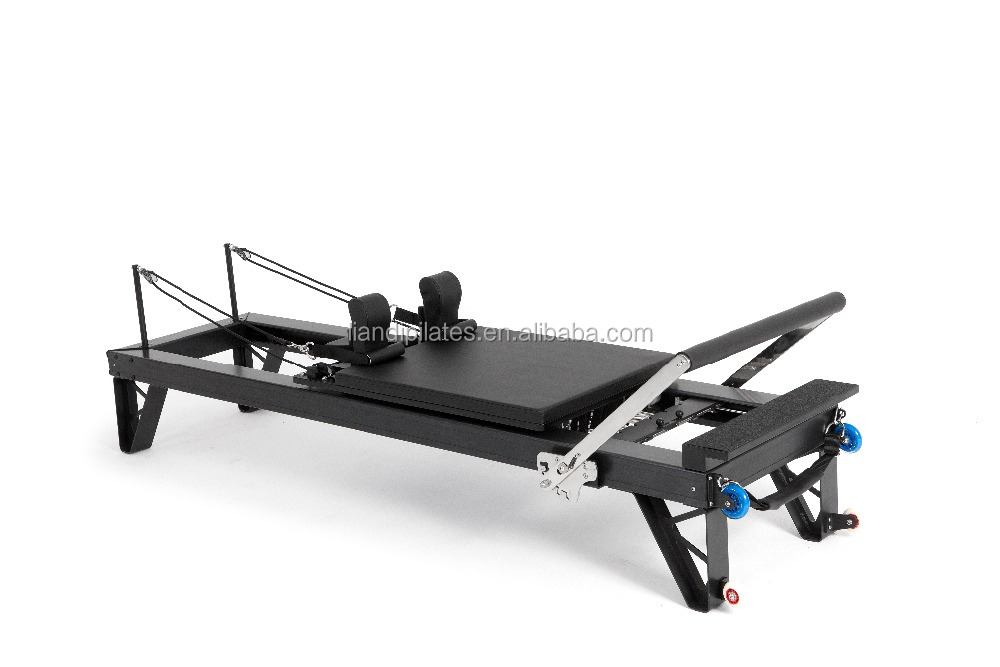 Professional grade, high quality Pilates Equipment reformer in a studio