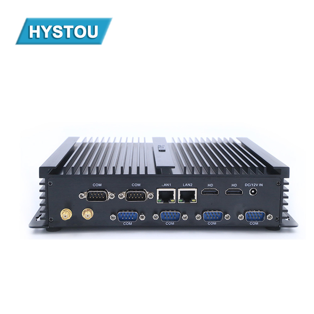 Low Power 12v Small Computer Fanless Rugged Intel Celeron 1037u Dual Core Mini Pc