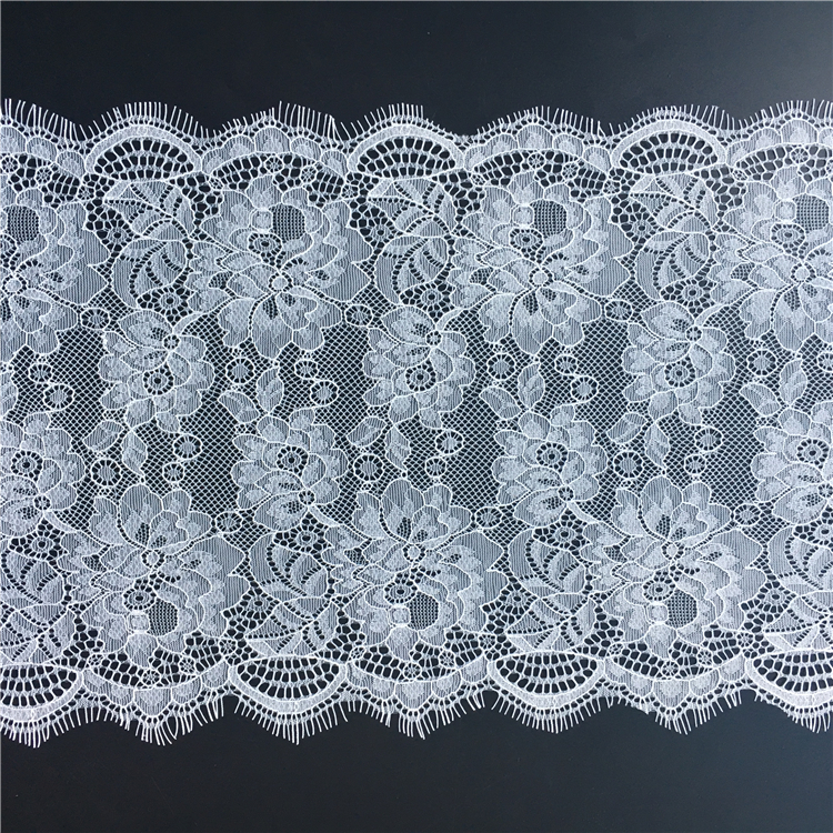 J060 22cm Elegant appearance french rhinestone bridal nylon lace trimming