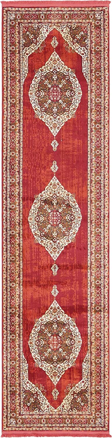 A2Z Rug Red 2' 7 x 10' Feet Runner St. Tropez Collection Traditional and Modern Area Rugs and Carpet