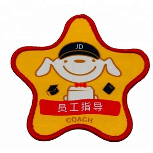 High Density Label With Safety Pin Backing For Trainer Woven Badges