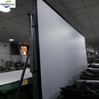 projector cinema outdoor of Fast fold screen with 3D silver screen fabric