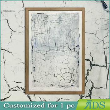 Modern Abstract Painting Canvas Crack Birch Bark Wall Decor - Buy ...