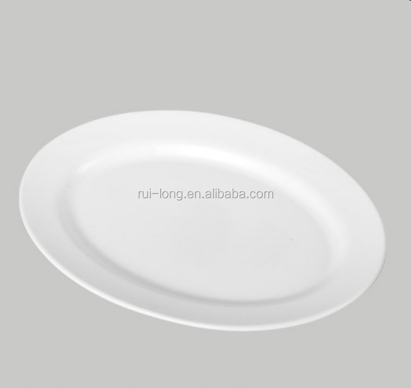 2017 new products wholesale dinnerware ceramic white oval dinner <strong>plate</strong>