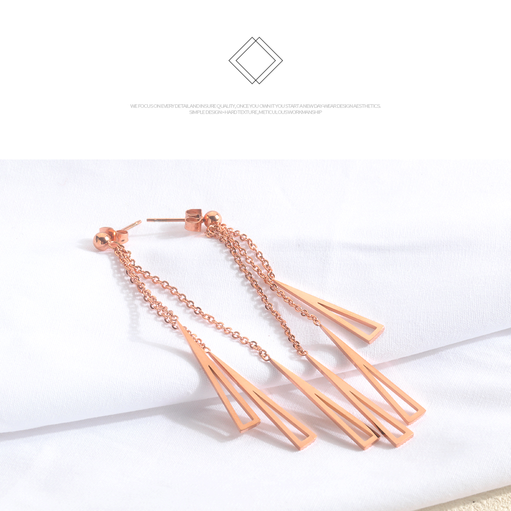 New Products Stainless Steel Chain Drop Design Korea Earring Wholesale