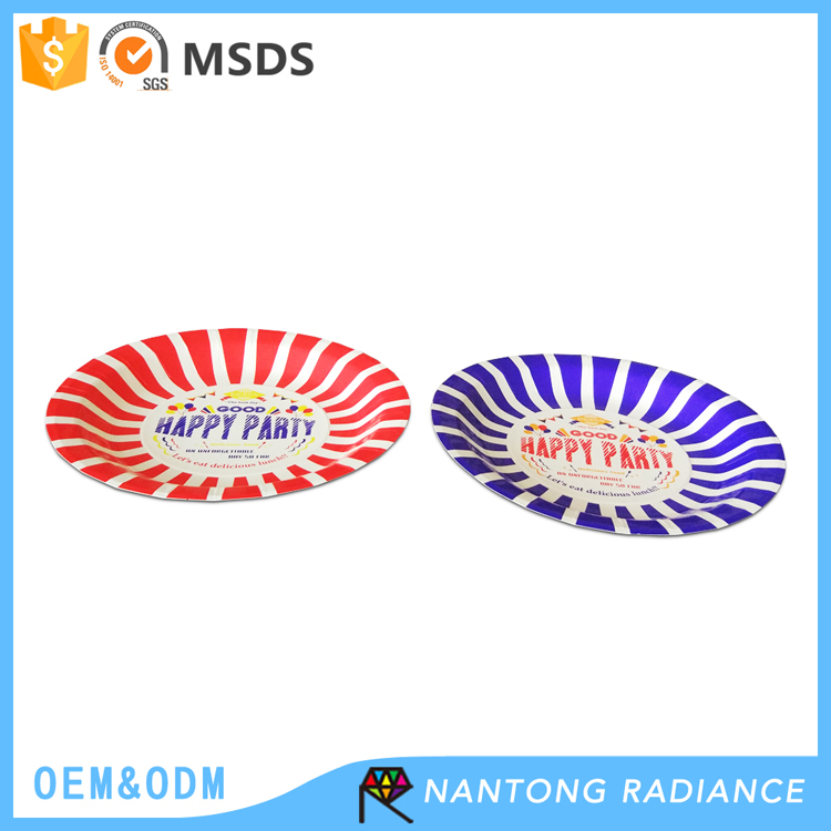 18cm Disposable Paper Plate for Party Cute Paper Plate