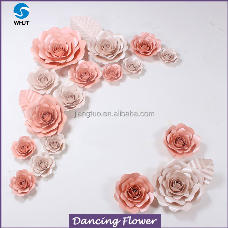 Grand 100% handcraft artificial silk paper flower wall