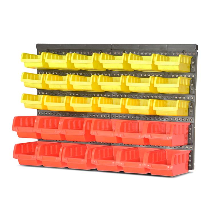 Barato colorido apilable industrial combinado contenedores de plástico