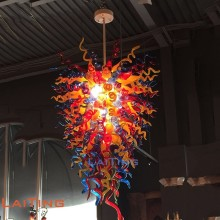 Hand Blown Colored Glass Chihuly Style Chandelier for Motel Guest Room G13