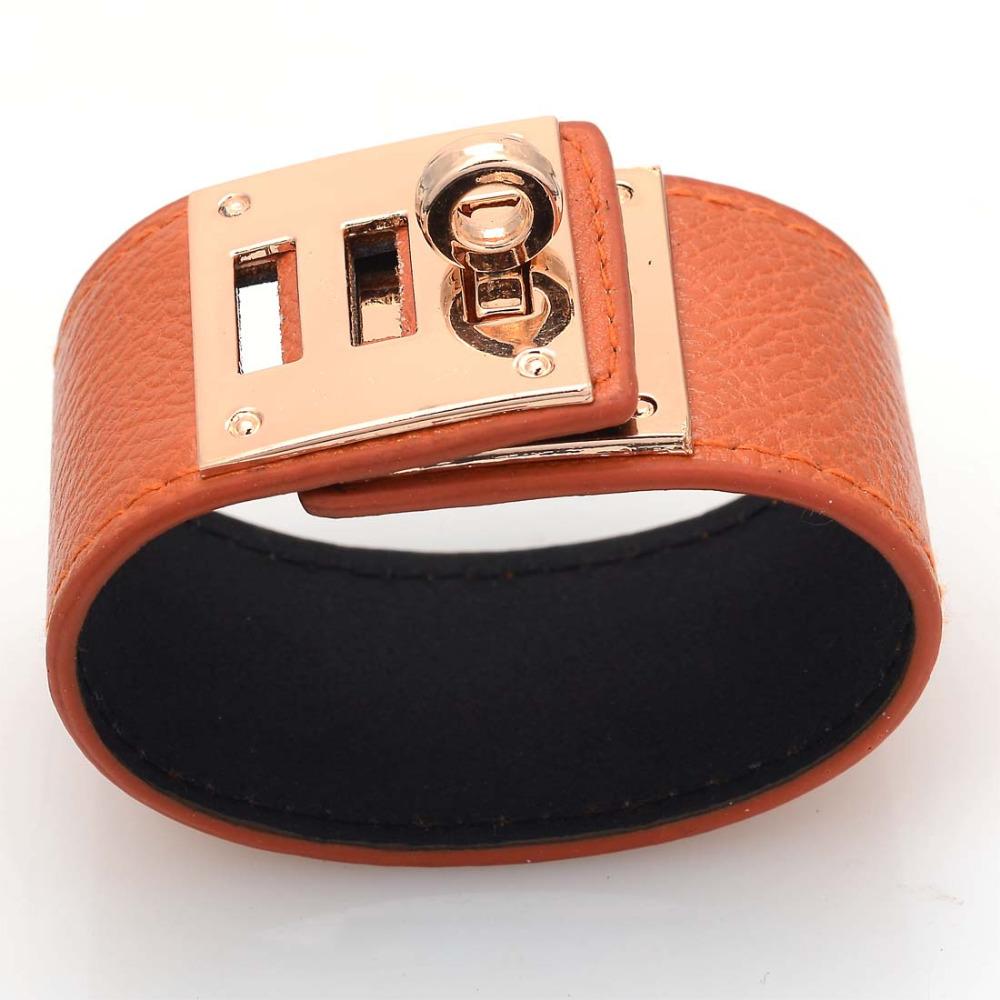 H браслеты, Новый бренд браслеты с мател замок, Браслет, Регулируемая застежка запястье
