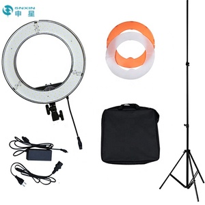 "SNXIN 12"" Ring Flash light Photography studio Makeup LED Beauty Fill light for webcast 45W LED dimmer light"