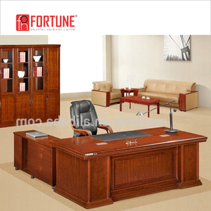 Traditional wood furniture office CEO table for Dubai market(FOH-K2421)