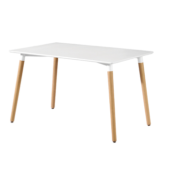 cheap white wooden mdf dining table for dining room furniture