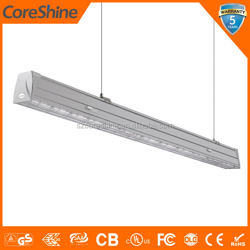 CE RoHs 5ft UGR<19 LED Batten Light Trunk Linear System with PC Cover
