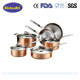 Hot new product cooking pot set stainless steel copper cookware cauldron