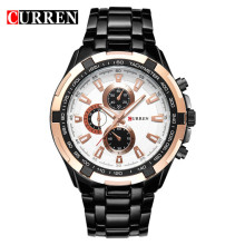 2018 Groothandel OEM CURREN 8023 rvs <span class=keywords><strong>horloge</strong></span> curren Factory prijs fashion curren mannen Japan klokken horloges