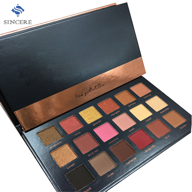 Factory price 18 color combo eyeshadow palette