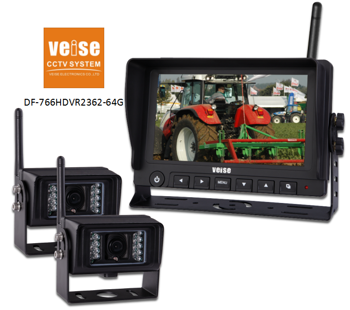 7inch reverse wireless camera and monitor 12v
