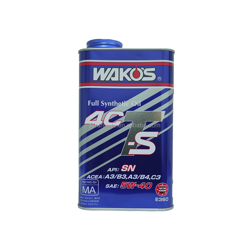 Wako's Japan imported 4CTS 5W40 1L Full synthesis motor Engine Oil