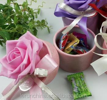 China Grosshandel Hochzeit Zylinder Gross Rosen Suss Box Ideen Karton