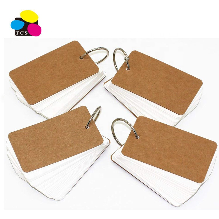 Ring Binders Paper Index Cards Easy Flip blank Flash Cards Study Cards