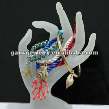 Hot Sale Ocean Style Summber Leather Bracelet from Yiwu Gania Jewelry Factory