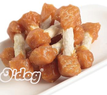 Ayam Dumbbell Pasokan Makanan Hewan Kering Anjing Memperlakukan