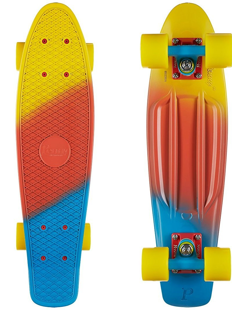 "Penny Skateboards Canary Fade 22"" Complete Cruiser Skateboard - 6"" x 22"""