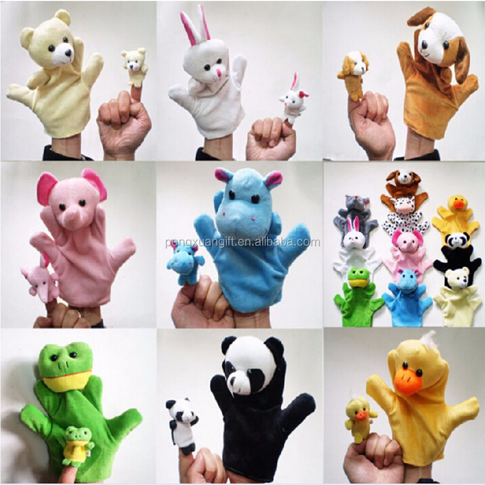Surwish Fairy Tale The Wolf andFamily Finger Plush ToyStorytelling Doll Kids Children Baby Educational Toys
