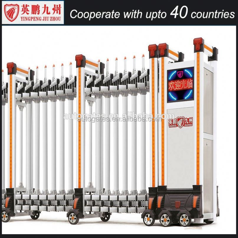 Fence models automatic retractable gate electric retractable door entrance out auto automatic retractable gate