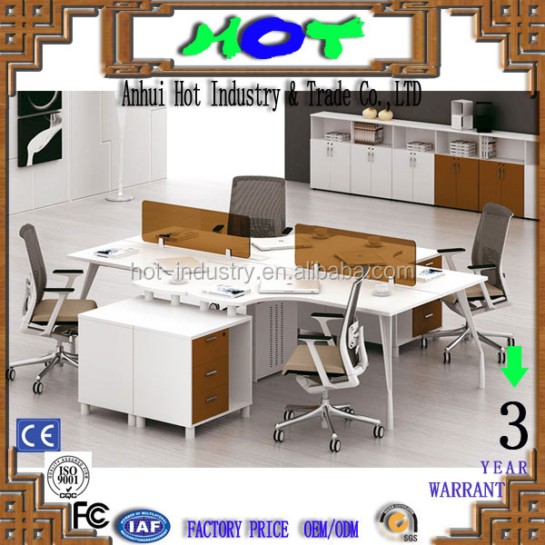 OEM best price green material office workstation for 4 person chromed legs 4 person workstation furniture