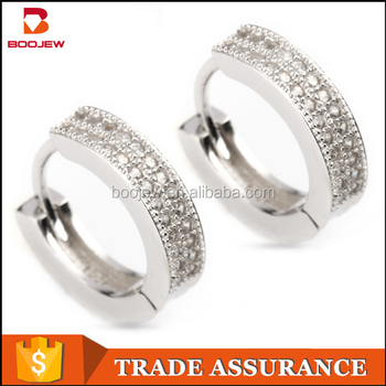 6d0de630f Fashion 925 Sterling Silver white gold plated earrings cubic zirconia  earrings for teen jewelry wholesale china