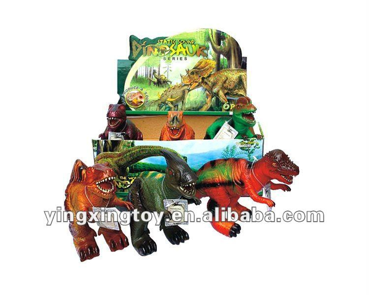 plastic sounds soft rubber dinosaur toy