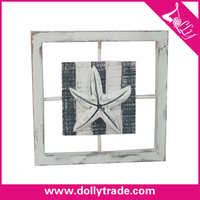 Square Wooden Design Shell Photo Picture Frame