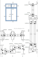 aluminum window profile extrusions ,Xuanlv XL-ZRT02 thermal break sliding window series